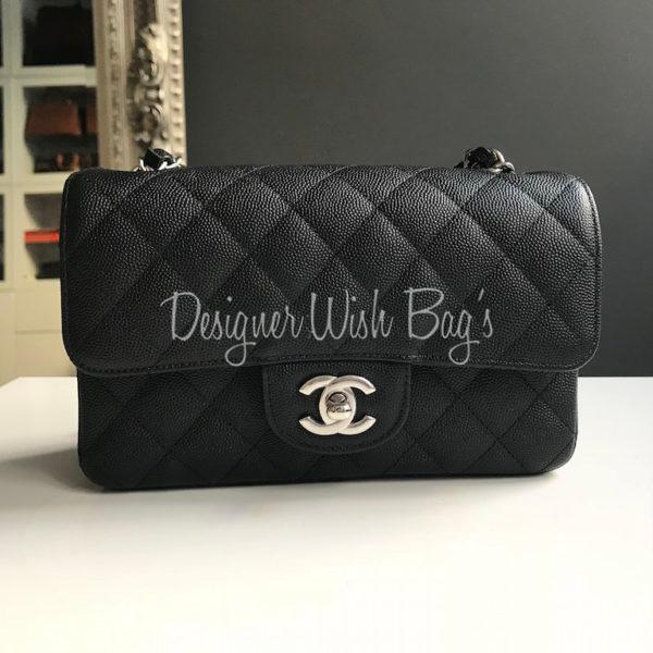 34542ab1f991 Chanel Mini Black Caviar Rectangular SHW 18C. IMG_6814. IMG_6815. IMG_6816