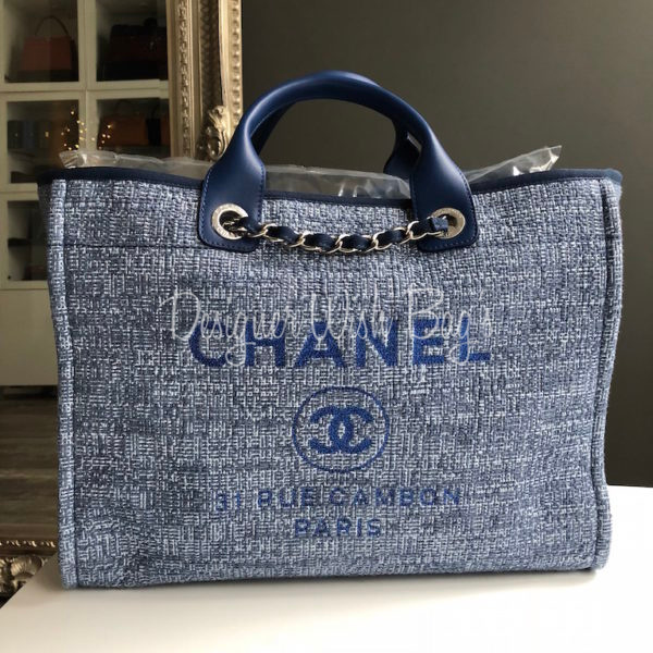 291f099c88bf63 Chanel Deauville Blue Glitter -