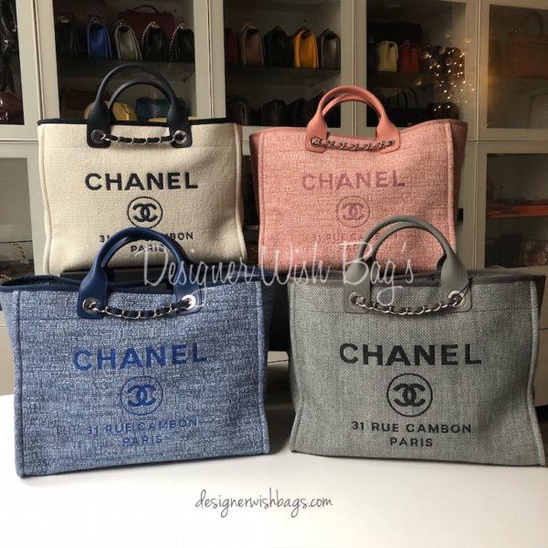 61856eaaa171 Chanel Deauville Light Beige/Navy -