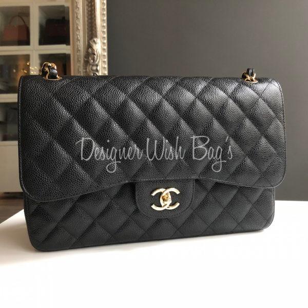 932cd441bdba14 Chanel Jumbo Black Caviar GHW Brand New 2018 -