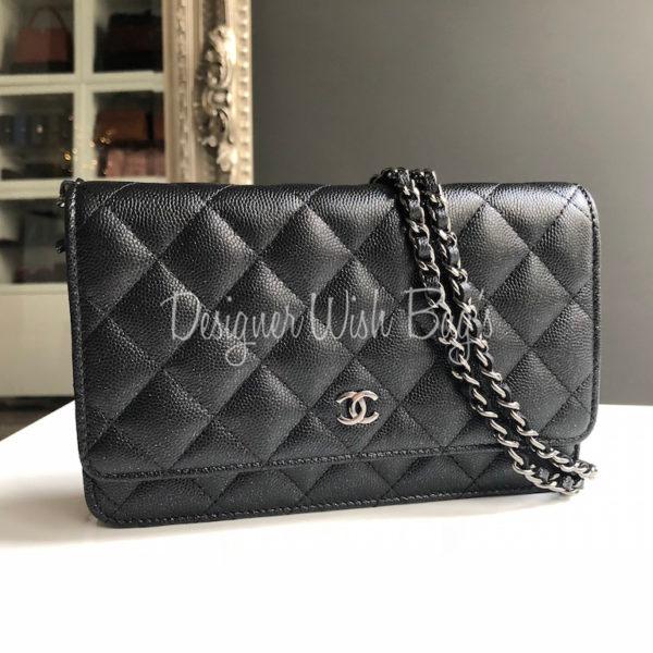 7f98e8563067 Chanel WOC Black Iridescent Caviar -