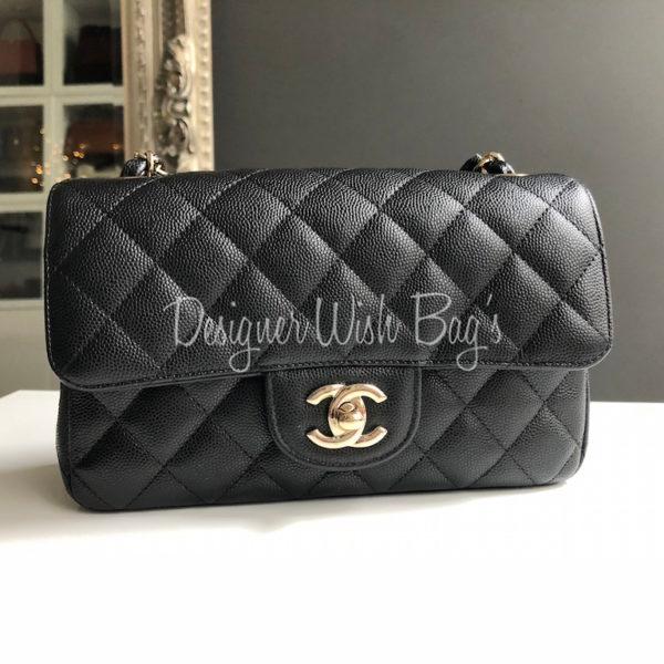 14f655881b61 Chanel Mini Black Caviar Rect GHW. IMG_2534. IMG_2516. IMG_2518