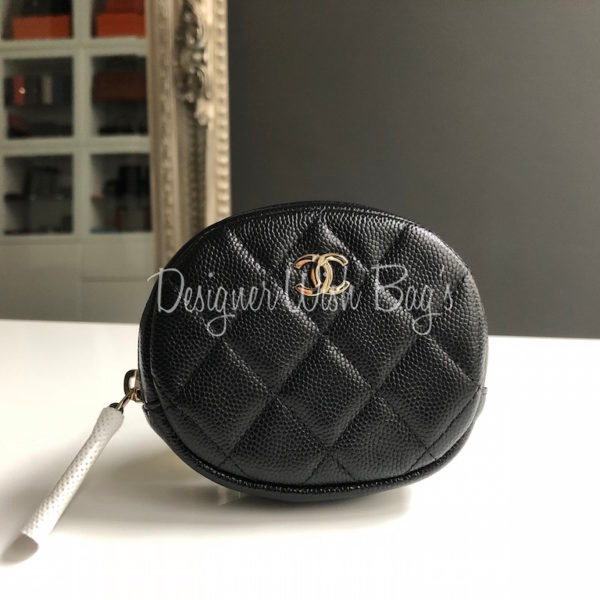 61dd296c Chanel Round Coin Purse Black