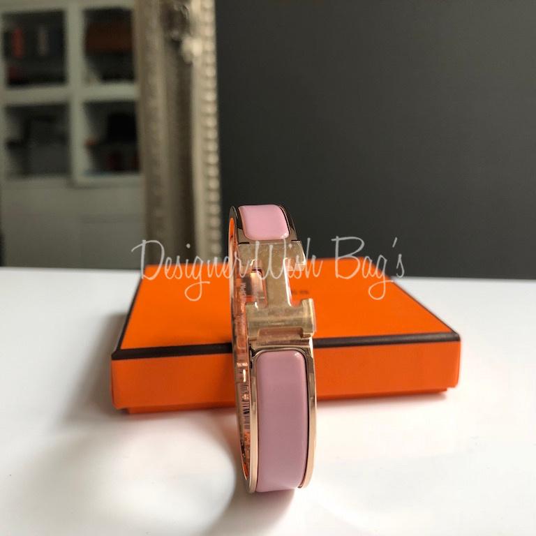 Hermes Clic Clac Bracelet Rose Gold