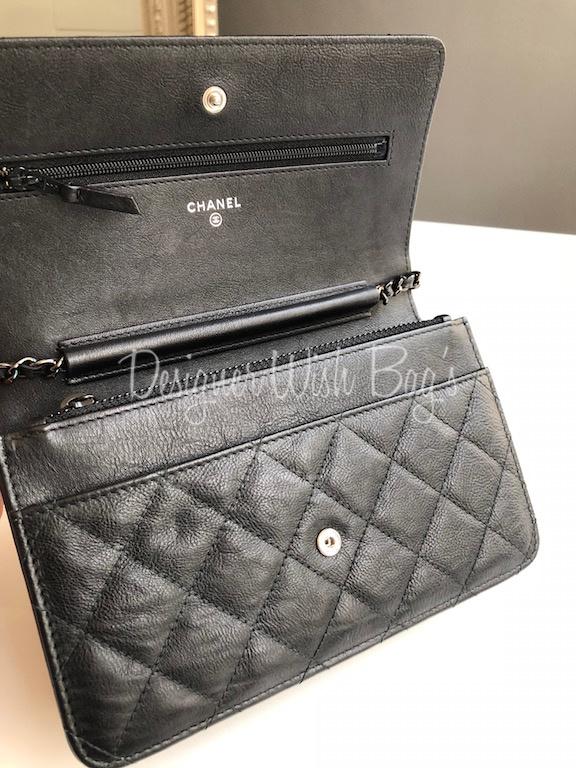 bf91033d8090 Chanel WOC So Black Crumpled Calf -