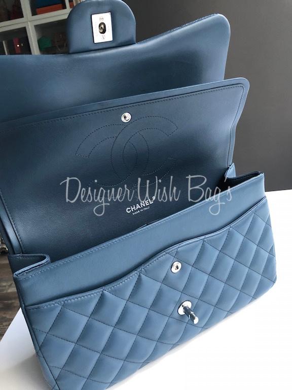 345333e05fa8 Chanel Jumbo Blue Denim -