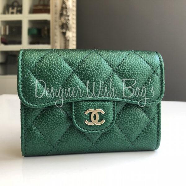 2b196b5eca5f36 Chanel Wallet Emerald Green S18 -