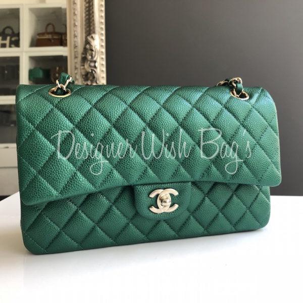 195dfaff6b51f Chanel Medium Timeless Green 18S -