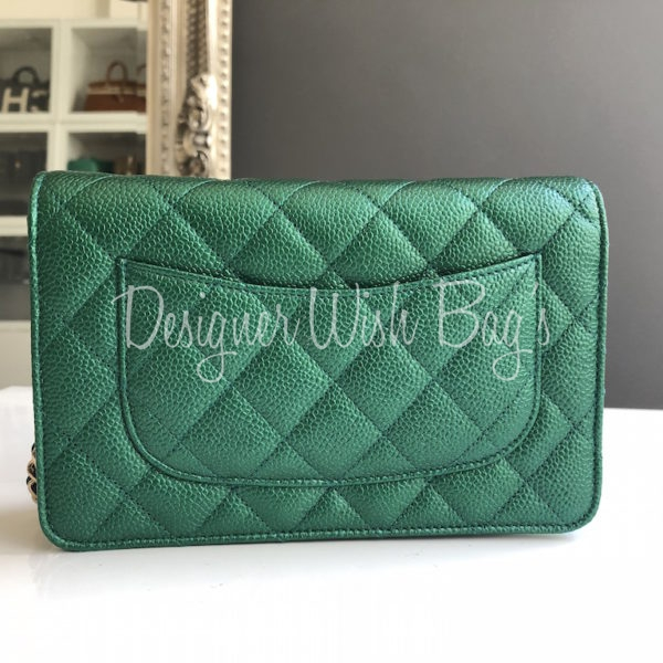 e6b8c0d4b9e34 Chanel WOC Iridescent Green 18S -