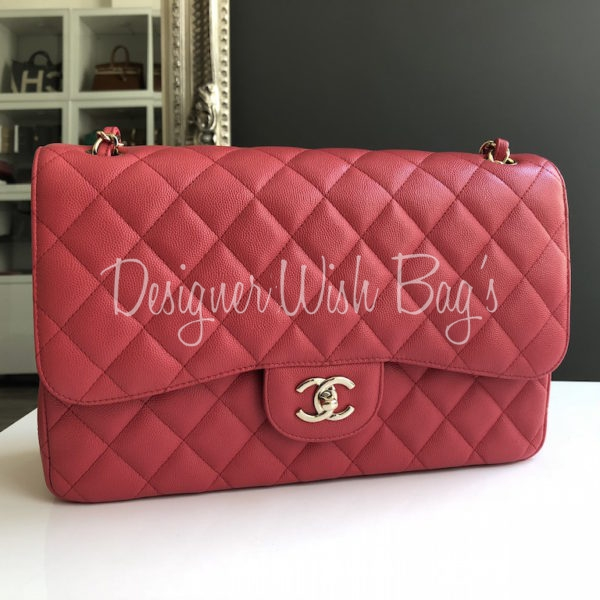 Chanel Jumbo Pink Caviar 17C - a5ea233973e6b