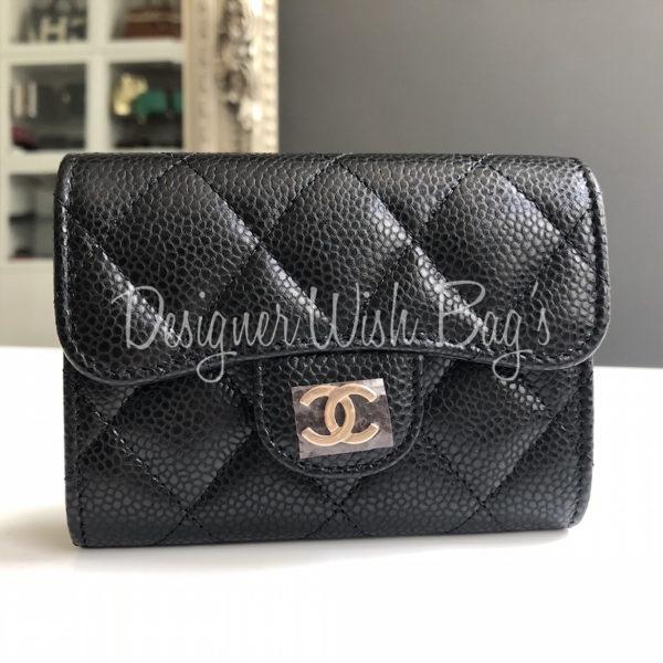 886a70b33e0b Chanel Wallet Black Caviar 18S -
