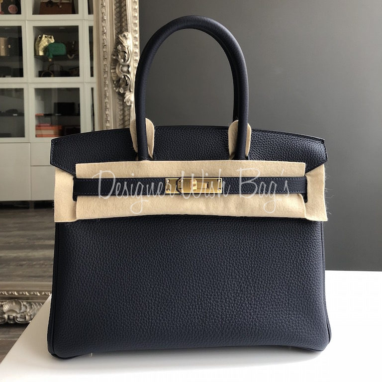4d3e3e67a054 Hermès Birkin 30 Bleu Nuit NEW -