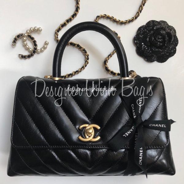 79c0c4583d88 Chanel Coco Handel Chevron Black -