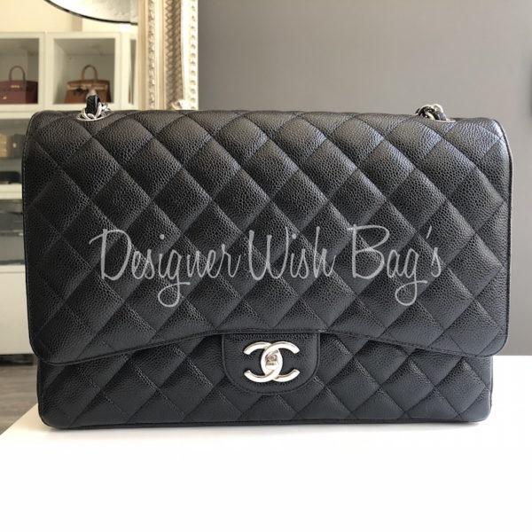 75b3271bbbc9 Chanel Maxi Black Caviar SHW. IMG 0976. IMG 0977. IMG 0979