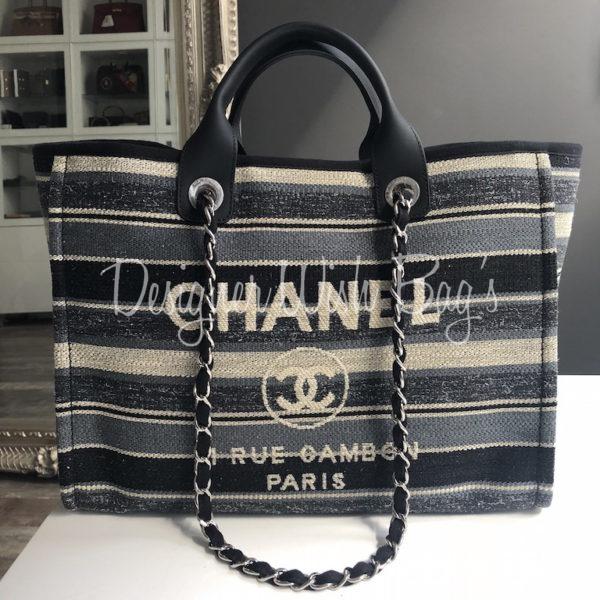 daba7cc8b651 Chanel Deauville Blue Stripes 18A -