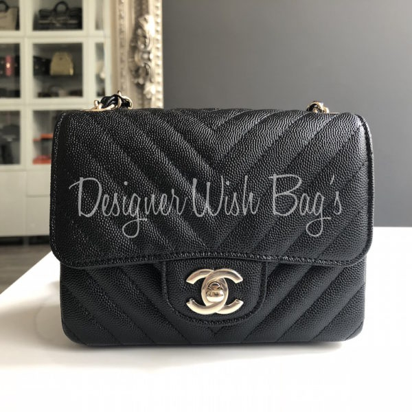 Chanel Mini Square Chevron Caviar 18B - 12d1ba6a5bc04