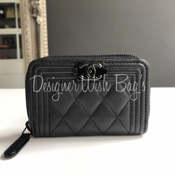 96d5f51a Chanel So Black Boy Wallet