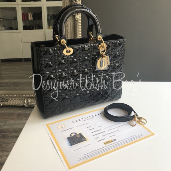 a288577ce Lady Dior Black Patent GHW. IMG_4209