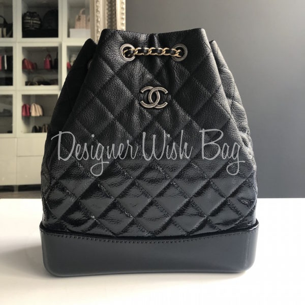 c342c3dbb048 Chanel Gabrielle Black Backpack 18S -