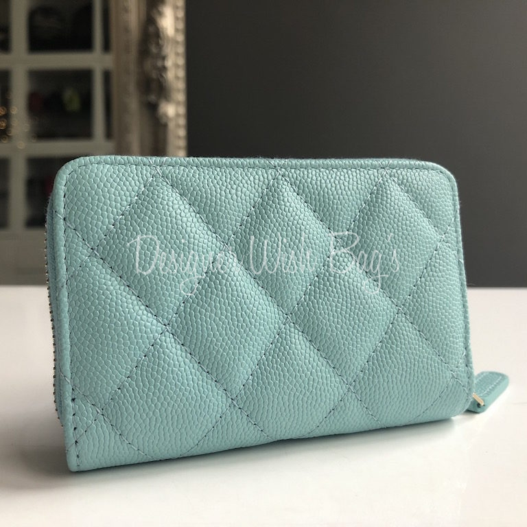 Chanel Zip Coin Purse Tiffany Blue 19C - ada0a504cfbe7