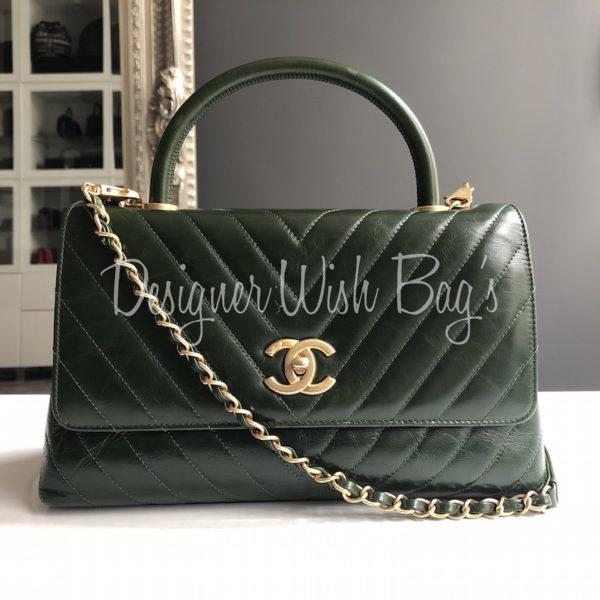 652947b29643 Chanel Coco Handle Green. IMG_2254. IMG_2255. IMG_2256