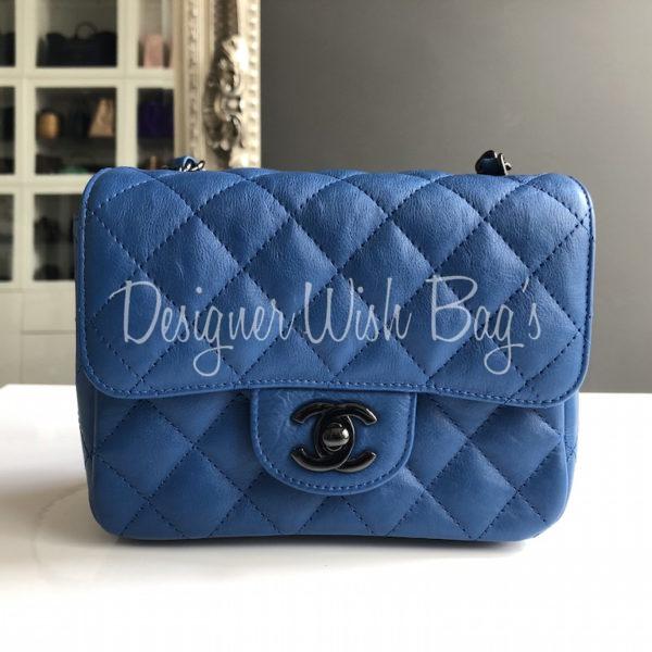 217169829ec5 Chanel Mini Distressed Blue -