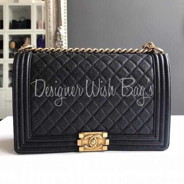 782217667699 Chanel Boy Black Caviar 28cm. IMG_6518. IMG_6519. IMG_6501