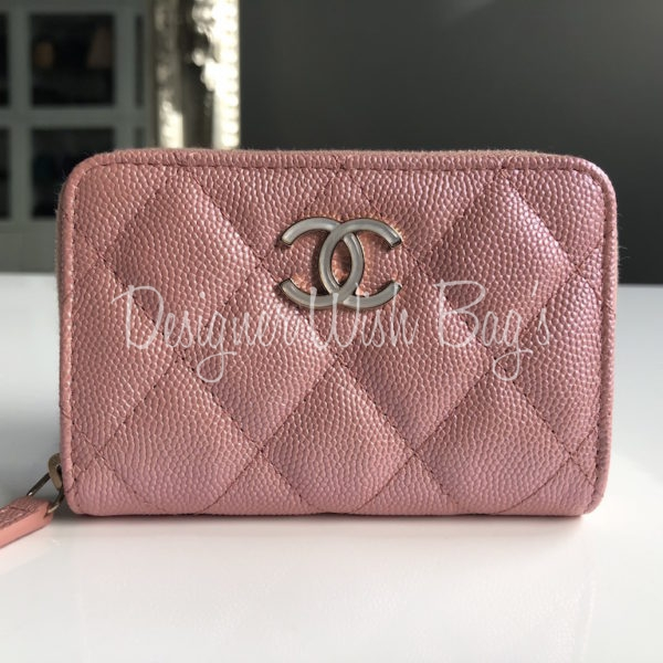 4fee2dae70da Chanel Wallet Iridescent Pink 19S. IMG_8151. IMG_8152. IMG_8155