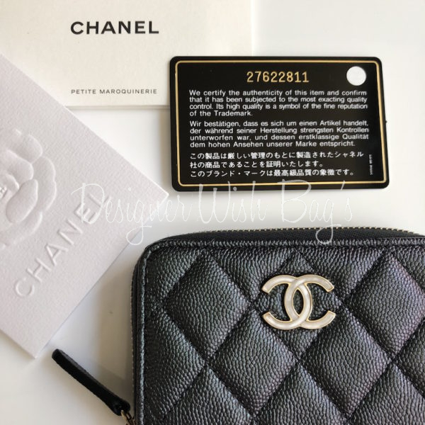 087839f18a8f Chanel Wallet Black Iridescent 19S. IMG_0430. IMG_0432