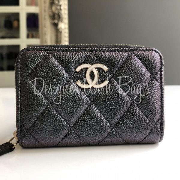 dd290db2 Chanel Wallet Black Iridescent 19S