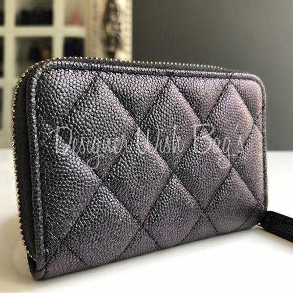 9166854d1038 Chanel Wallet Black Iridescent 19S -