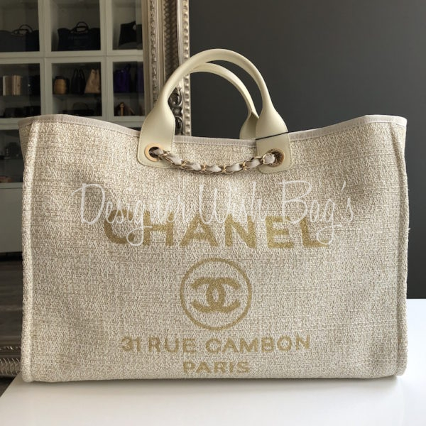 34f02a156646f9 Chanel Deauville Beige/Gold 19C -