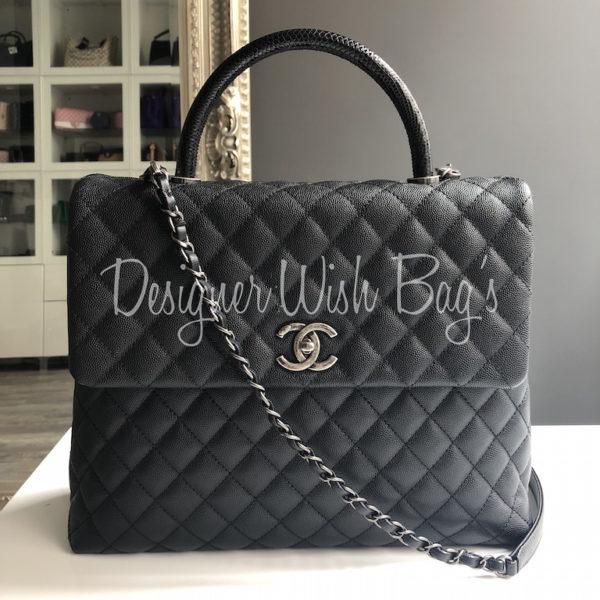 1c8e6daa4ce5ed Chanel Black Coco Handle 17C. IMG_2518. IMG_2519. IMG_2485