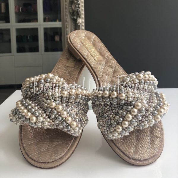 Chanel Pearl Sandals 18SS - Designer