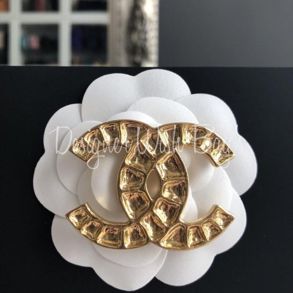 Site officiel belle et charmante en gros Chanel Brooch CC Gold 19A