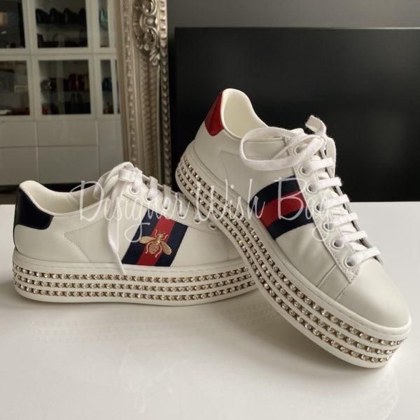 Gucci Ace Sneaker Crystals - Designer