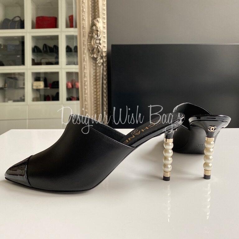 Chanel Pearl Heel Shoes - Designer WishBags